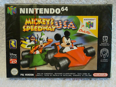 Mickey's Speedway USA - N64 Game - * New, Sealed * - UK Pal - (Read Description)