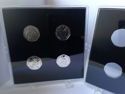 ACRYLIC COIN DISPLAY CASE FOR BEATRIX POTTER 50p 2016-2018 (coins not included)