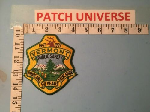 VERMONT PUBLIC SAFETY 50 YEARS  SHOULDER PATCH  P082
