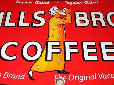 VINTAGE HILLS BROS COFFEE DIE-CUT CAN 7 3/4
