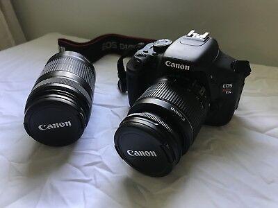 Canon EOS Rebel T3i 18 MP DSLR Camera, 18-55mm/55-250mm Lens, Full Bundle Kit (T3i Canon Kit)