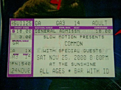 Common / Macy Gray / Black Eyed Peas Nov 2000 Albuquerque Ticket stub Concert