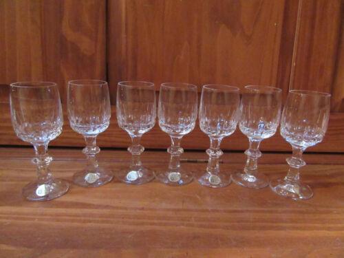 VINTAGE ECHT BLEIKRISTALL GERMANY CORDIAL GLASSES STEMWARE CRYSTAL 24% SET OF 7