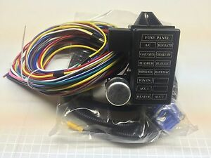 street rod wiring harness 12 circuit universal wire harness 14 fuse 12v street hot rat muscle rod wiring