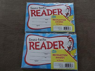 2 Pkg. Dr. Seuss Cat In The Hat Seuss-tastic Reader Award-18/Pkg-Free - Dr Seuss Awards