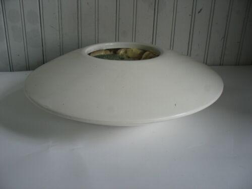 Mid Century Modern Modernist Japanese Ikebana Pottery White Planter Signed