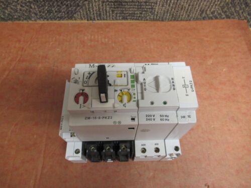 KLOCKNER MOELLER PKZ 2 MOTOR STARTER ZM-16-8-PKZ2 240V VOLT w/ R-PKZ2 U-PKZ2 24V