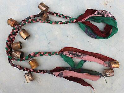 Multicolor Boho Hanging Windchime Recycled Material Bells Sari Garden Outdoor Iron Outdoor Materials