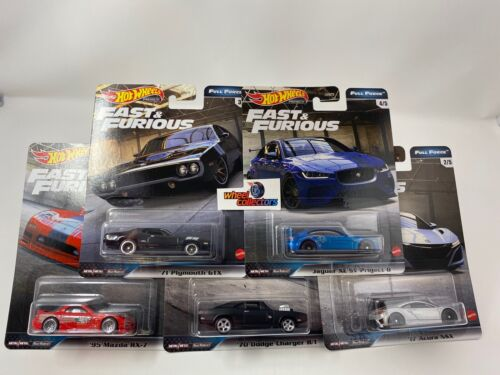 5 Car Set Full Force * 2020 Hot Wheels Fast Furious Case H * IN STOCK