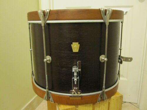 "1965 LUDWIG Snare Marching Drum 14"" with New Case"