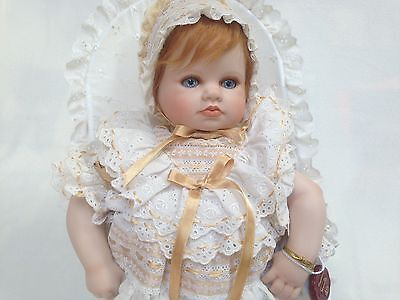 Porcelain Bisque Doll 2000 Mundia Collectible LULA Baby Made In France