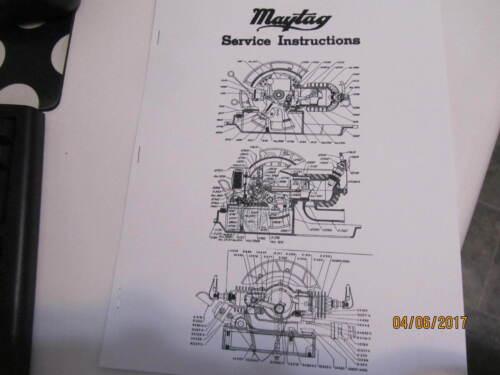 Maytag service  Instruction/Parts Catalog Manual multi motors