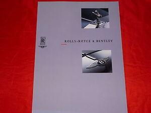 ROLLS-ROYCE + BENTLEY Modellprogramm Prospekt von 1990