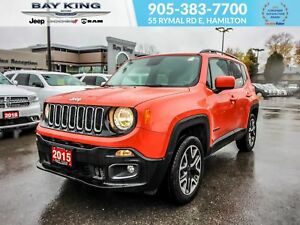 2015 Jeep Renegade NORTH 4X4, BLUETOOTH, BACK UP CAM, GPS