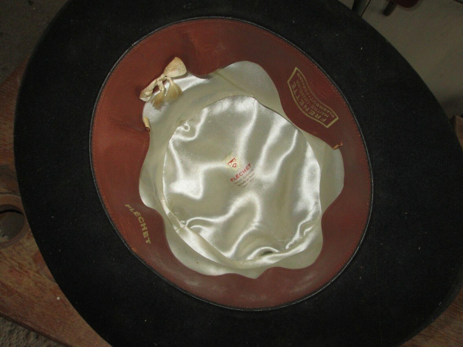 Vintage ancien chapeau frenette flechet