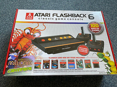 Atari Flashback 6 - 100 Built-in Games Boxed - Free UK Post.