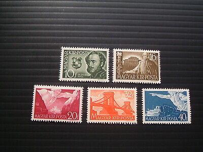 Hungary 1941.  Mi 660-64.  Full set of Count Szechenyi.  MNH