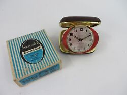 Vintage Westclox Folding Travel Alarm Clock 7 Jewels Model 44260 With Box #7580