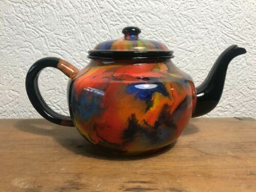 VERY RARE End Of Day enamelware graniteware coffee pot
