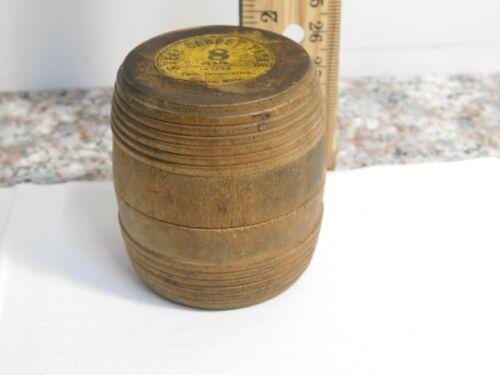 "J3   Vintage 2"" Wooden Barrel Container Atlas Steel Carpet Tacks USA Free ship"