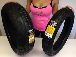 New 120/70 ZR 17 Front 190/50 ZR 17 Rear Shinko 009 Raven  Motorcycle Tire set