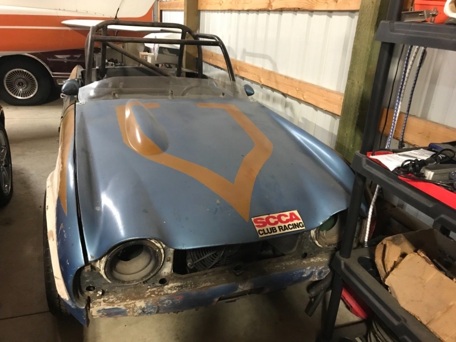1965 Triumph TR4 Grey: 1965 Triumph TR4. Race car easily converted back to street , runs well low Res