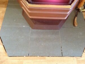 Grey ceramic floor tiles