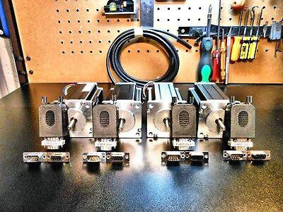 Gecko G540 4 600oz Motors 184 Double Shielded Cable Pro-solderless Connectors