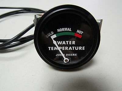 John Deere 40 420 430 Tractor Black Faced Dubuque Temp. Gauge W 48 Lead 5727