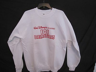 RARE - Vintage  - Disney 101 Dalmations Sweatshirt - White XL - NEW- NEVER WORN
