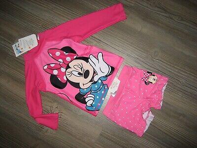 Disney UV Badehirt und Badehose für Mädchen Größe 80 Minnie Mouse