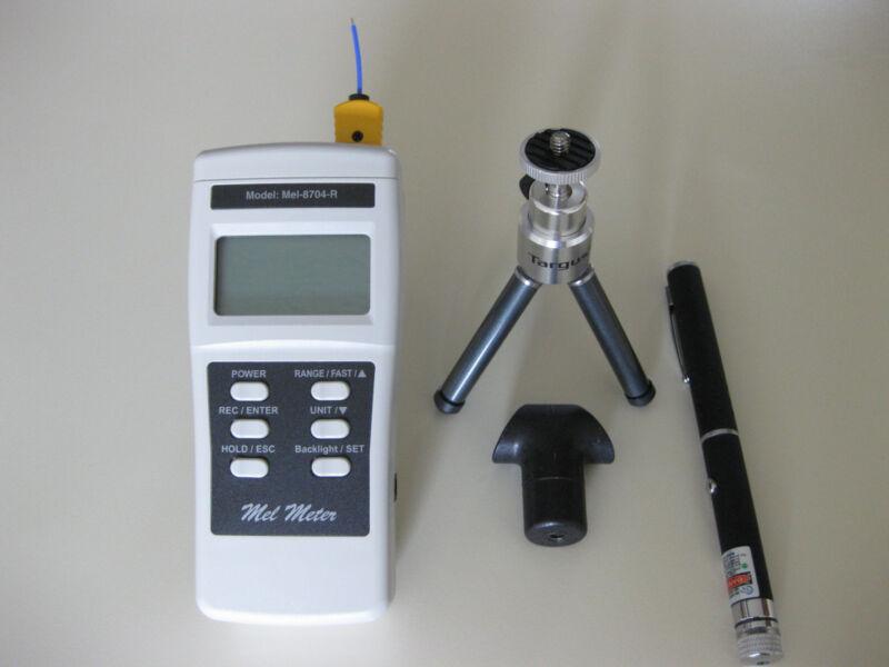 Mel Meter 8704R EMF Meter Detector + Green LASER GRID PEN + HOLDER + TRIPOD