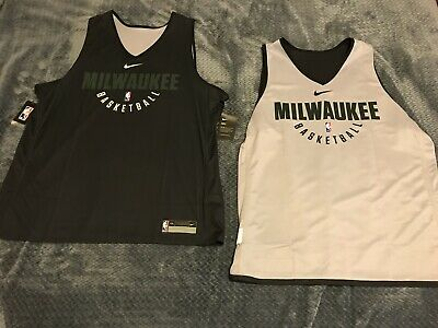 NWT Nike Milwaukee Bucks NBA Practice Reversable Jersey TEAM ISSUED Size 2XL XXL