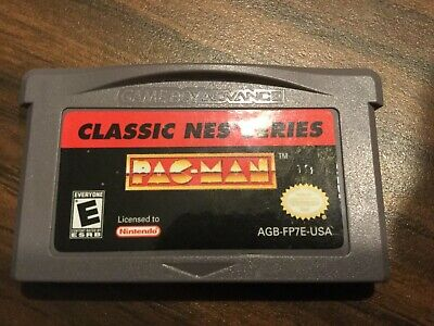 Classic NES Series Pac-Man GBA Gameboy Advance TESTED, Working, Auhentic