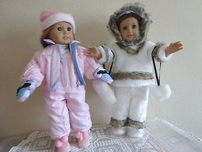"NEW-DOLL ESKIMO & SKI Sets [2] Lot #178 fit 18"" Dolls such as American Girl Doll"