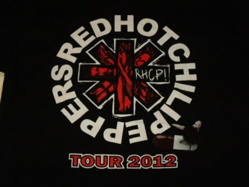 Red Hot Chili Peppers 2012 RHCP Concert Tour Black T Shirt Size M