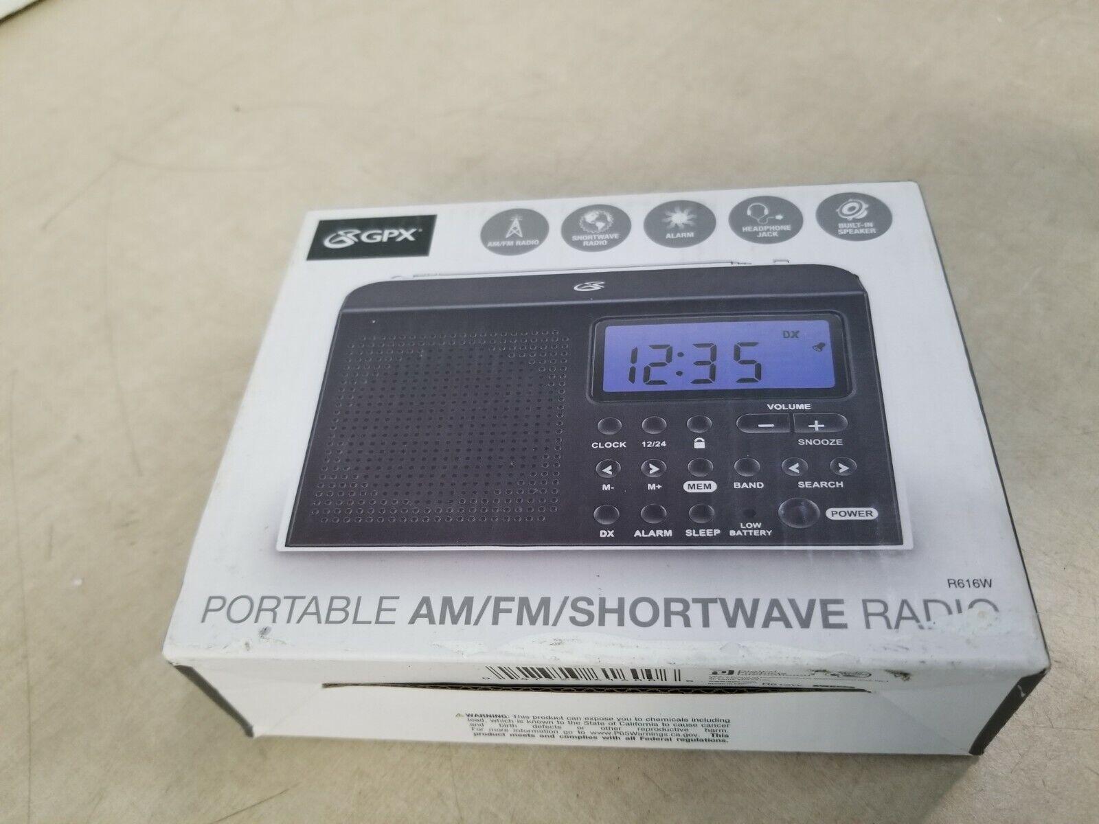 GPX R616W  Portable 6-Band Shortwave AM/FM Radio