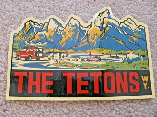 OFFICAL STATE WYOMING Tourism Sticker THE TETONS New