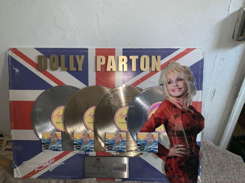 Dolly Parton BLUE SMOKE BPI Platinum Record Sales Award From United Kingdom