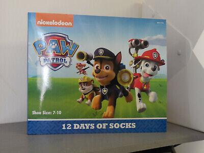 NEW 12 Days of Socks DC Nickelodeon PAW PATROL Boys Shoe Size 7-10