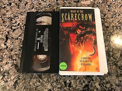 Night Of The Scarecrow VHS! 1984 Small Town Evil Horror! Husk 31 Halloween Night