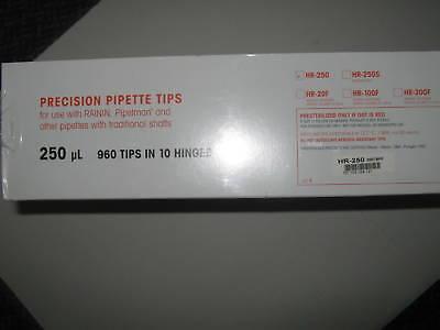 Case Of Rainin Hr-250 Precision Pipette Tips.