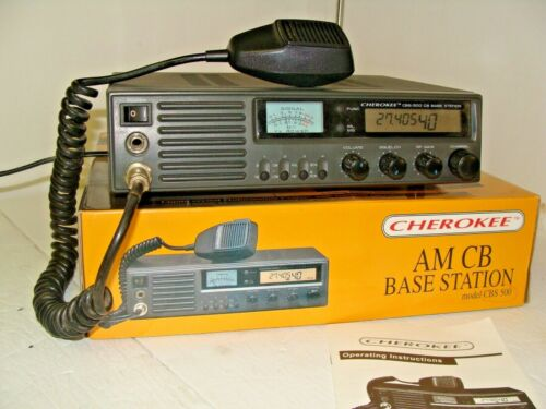 Cherokee  CB radio base station model BCS 500 complete with box