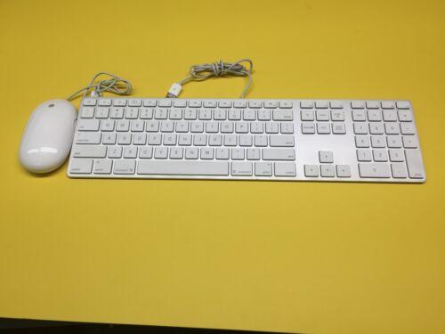 NICE Apple A1243 Slim Aluminum USB Keyboard & Mighty Mouse A1152 iMac Mini Pro