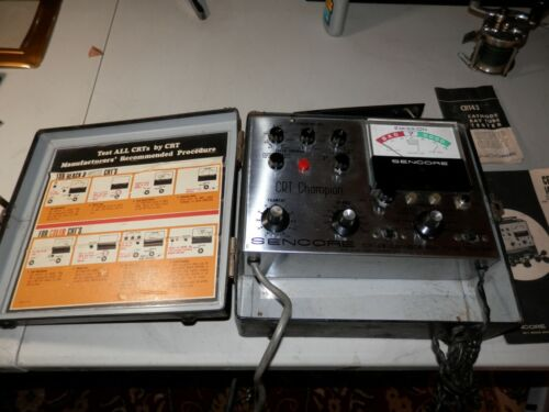 Sencore CR143 CRT Cathode Ray Tube Tester With Original Box and Set Up Manuel