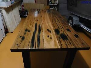 Recycled Railway Sleeper Table Victoria Point Redland Area Preview