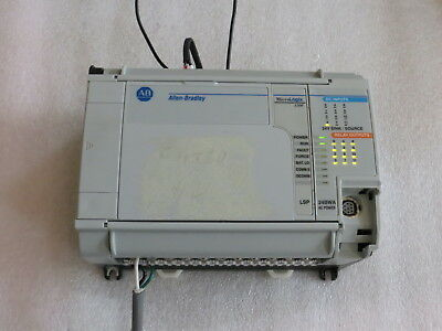 Allen Bradley Micrologix 1500 1764-24bwaa 1764-lspc Frn 11 Fair Used Tested