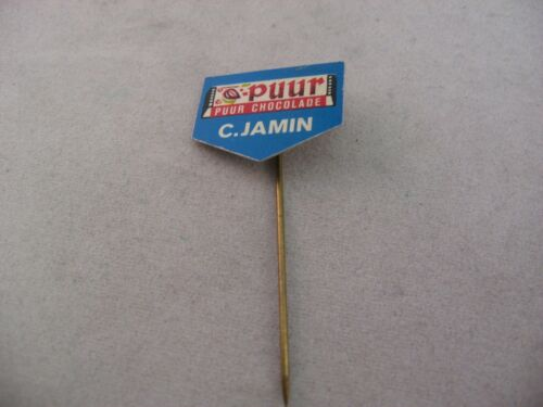 C. JAMIN PURE CHOCOLATE Puur Chocolade Vintage Foreign Hat Stick Pin Advertising