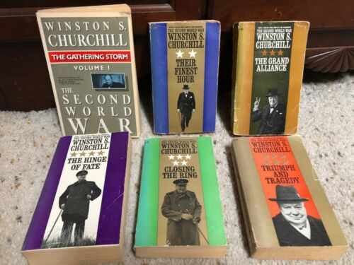 Complete 6-volume set The Second World War Winston Churchill 1 2 3 4 5 6 PB