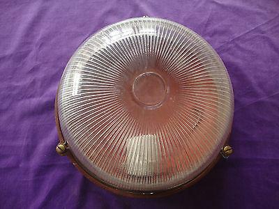 Antique round bulk head lamps